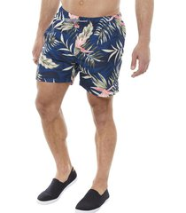 traje de baño full print flores hawai indigo corona