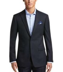 calvin klein x-fit navy stripe slim fit suit
