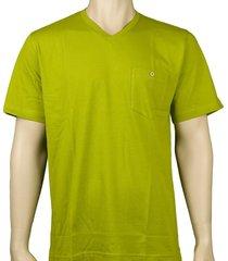 schiesser pyjamashirt v-hals groen