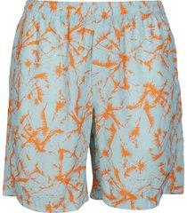 msgm sky blue and orange shorts