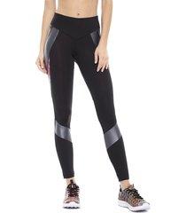 legging desigual blocking patch negro - calce ajustado