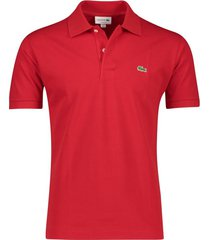 lacoste poloshirt classic fit rood