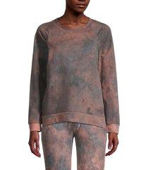 chenault women's crewneck stretch-cotton sweatshirt - pink blue - size xl
