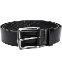 diesel studded chevron belt - black
