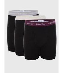calzoncillos cotton stretch - boxer brief 3pk negro calvin klein
