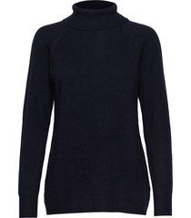 raglan turtleneck loose sweater turtleneck coltrui blauw davida cashmere