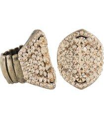 anel armazem rr bijoux cristais rosê ouro velho