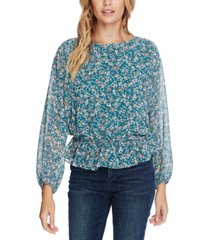 1.state woodland floral top