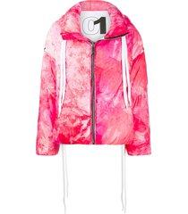 khrisjoy tie-dye padded jacket - pink