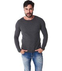 suéter convicto cinza