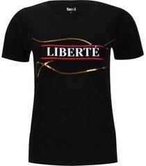 camiseta liberté color negro, talla 10