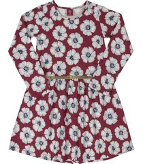 vestido vinotinto-blanco-azul bee loop