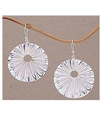 sterling silver dangle earrings, 'limpet' (indonesia)