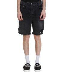 amiri shorts in black denim