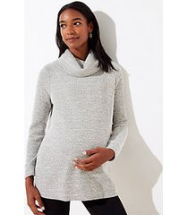 loft maternity boucle cowl neck tunic top