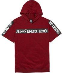 ecko unltd men's shoulder up short sleeve tape hoodie