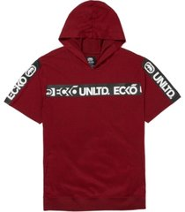 ecko unltd men's shoulder up ss tape hoodie