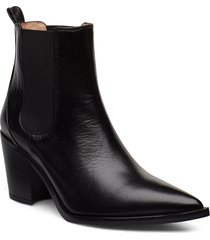 manila_na shoes boots ankle boots ankle boots with heel svart unisa