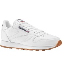 tenis lifestyle reebok classic leather - blanco