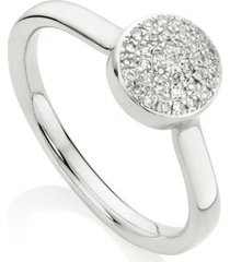 fiji diamond button ring, sterling silver