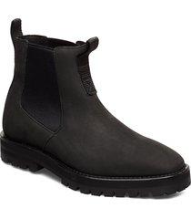 414g black oiled nubuck shoes chelsea boots svart gram