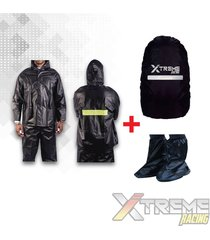 impermeable para moto+zapatones+forro maleta