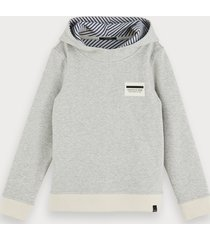 scotch & soda cotton-blend reversible hooded sweater