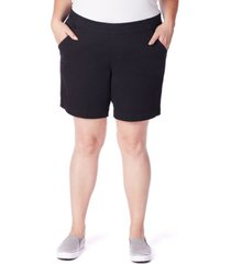 """jag plus size gracie pull on 8"""" shorts"""