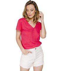 blusa básica decote v handbook feminino