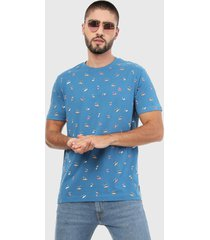 camiseta azul-multicolor original penguin