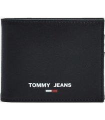 tommy hilfiger men's tj recycled credit card wallet black -