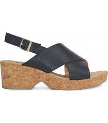 sandalia de cuero negra vemmas nembi