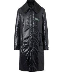 burberry padded coat - black