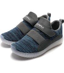 tenis azul-gris new walk