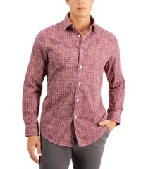 tasso elba men's asamo tile print shirt, created for macy's