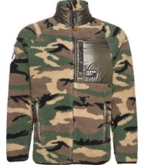 mountain sherpa camo track top sweat-shirts & hoodies fleeces & midlayers groen superdry