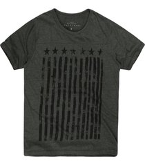 camiseta masculina mescla listras estrelas militar