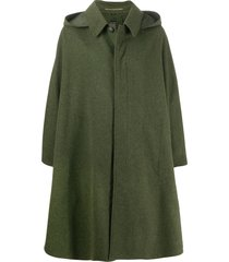 a.n.g.e.l.o. vintage cult 1980s hooded long cape - green