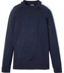 maglione moderno basic con bande (blu) - rainbow