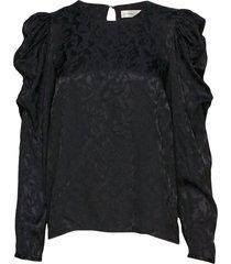 karisaiw blouse blouse lange mouwen zwart inwear