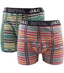 j&c heren boxer 2 pak 30058-s