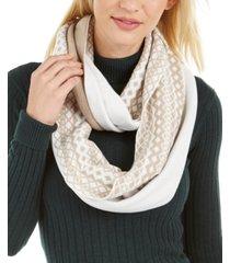 calvin klein fair isle knit loop scarf