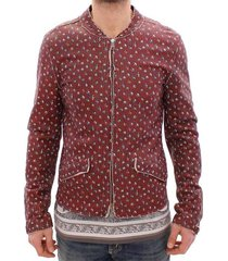 leather boxer print jacket