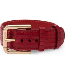 dolce & gabbana buckle-fastening bracelet - red