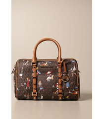 michael michael kors shoulder bag michael michael kors satchel in patterned synthetic leather
