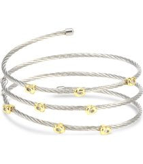 charriol two-tone coiled wrap bracelet in stainless steel & 18k gold-plated sterling silver