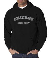 la pop art men's word art hooded sweatshirt - chicago 1837