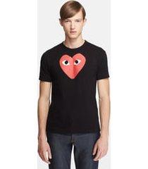 men's comme des garcons play heart graphic t-shirt