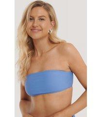 na-kd swimwear bandeaubikini-överdel - blue