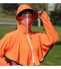 sombrero de sol impermeable transpirable para mujer-naranja